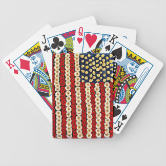 Flower Power US Banner Bicycle Poker Cards