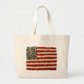 Flower Power US Banner Canvas Bag