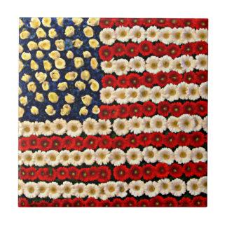 Flower Power US Banner Ceramic Tiles