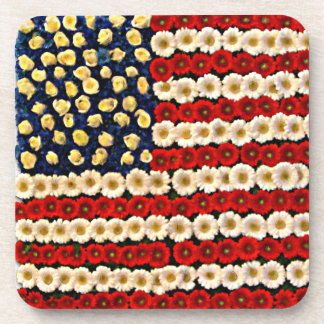 Flower Power US Banner Coaster
