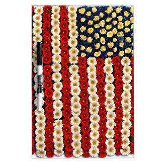 Flower Power US Banner Dry-Erase Whiteboard