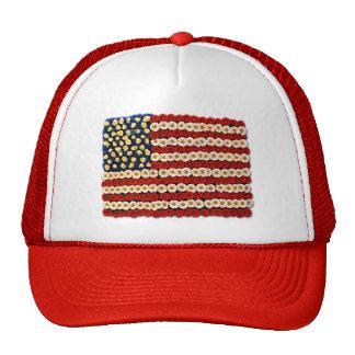 Flower Power US Banner Mesh Hats