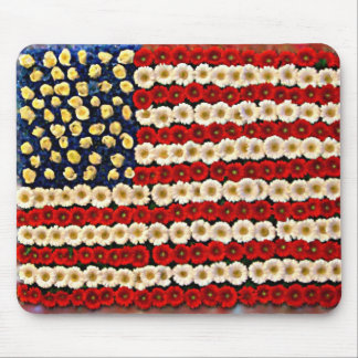 Flower Power US Banner Mouse Pad