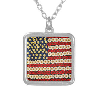 Flower Power US Banner Necklace