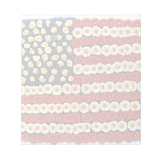 Flower Power US Banner Note Pads