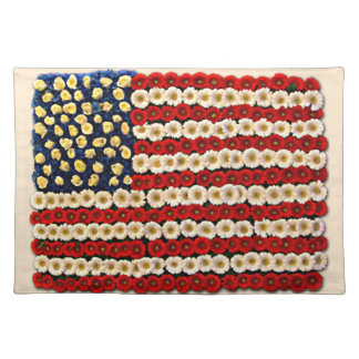 Flower Power US Banner Placemat