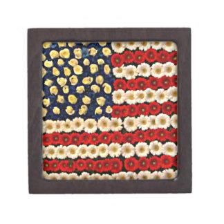 Flower Power US Banner Premium Keepsake Boxes