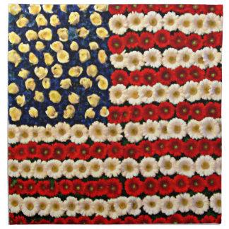 Flower Power US Banner Printed Napkins
