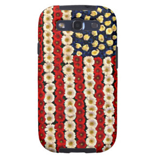 Flower Power US Banner Samsung Galaxy S3 Covers