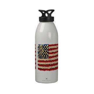 Flower Power US Banner Water Bottles