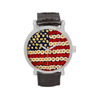 Flower Power US Banner Wrist Watches