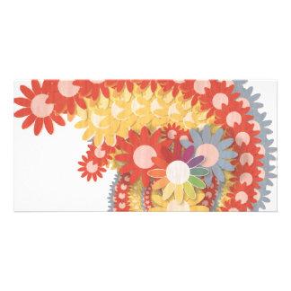 Flower Power Vintage Card