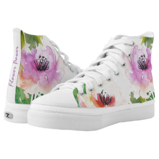 Flower Power Watercolor Floral Printed Shoes