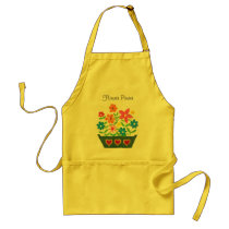'Flower Power' Window Box Floral Pattern Adult Apron