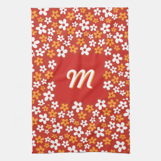 Flower Power with your Monogram Kitchen Towel