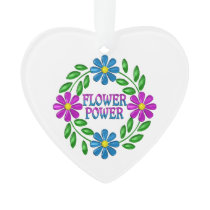 Flower Power Wreath Ornament