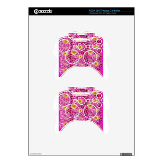 flower power xbox 360 controller decal