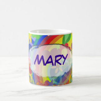 Flower Power & your name Mugs