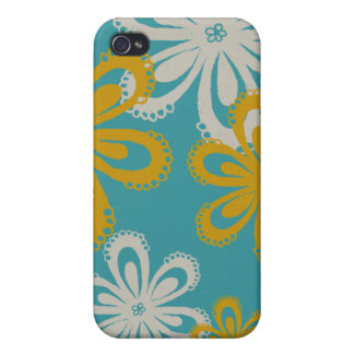 Flower Print Cover For iPhone 4