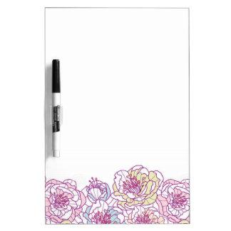 Flower print dry erase board