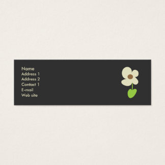 Flower Profile Card - Social Networking Card