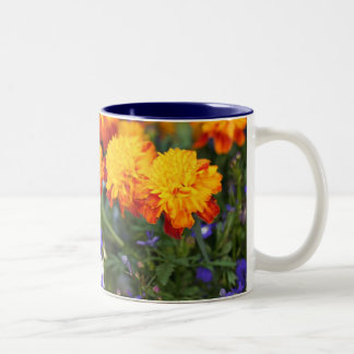 Flower Profusion Two-Tone Coffee Mug