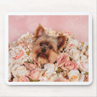 Flower pup mouse pad