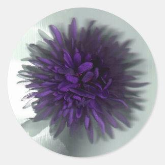 flower purple classic round sticker