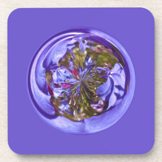 Flower purple in the globe drink coasters