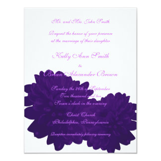 Flower (Purple) Small Rectangular Invitation