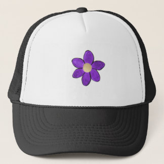 flower purple trucker hat