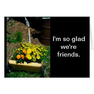 Flower Push Lawn Mower Friend Card