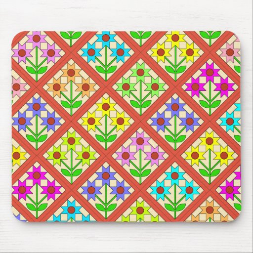 Flower Quilt Blocks Mousepad