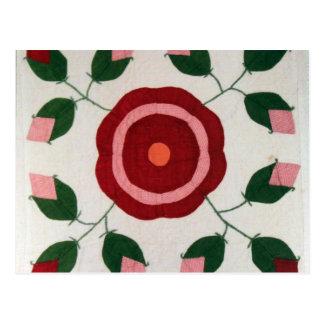 Flower Quilt Postcard