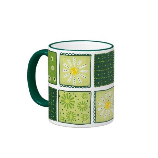 Flower Quilt Ringer Mug