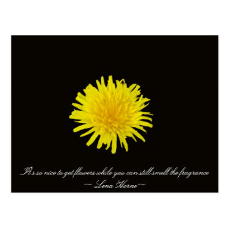 Flower Quotes Postcard