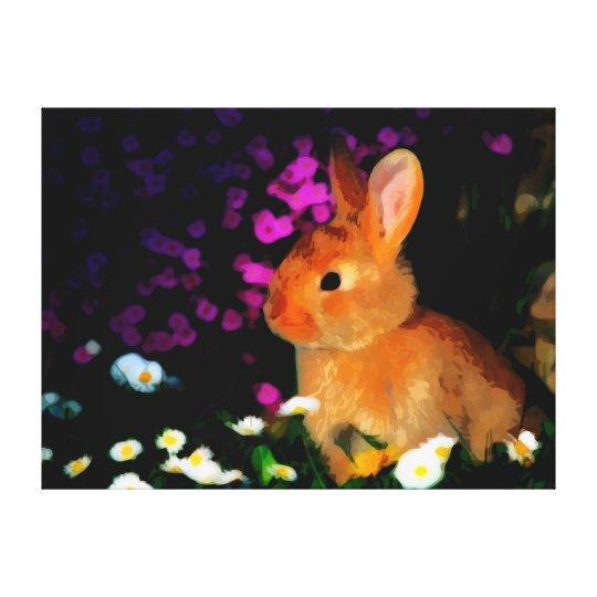 Flower Rabbit Canvas Print
