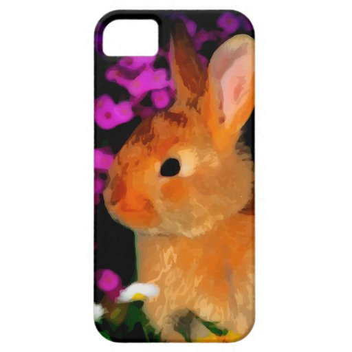 Flower Rabbit iPhone 5 Cases