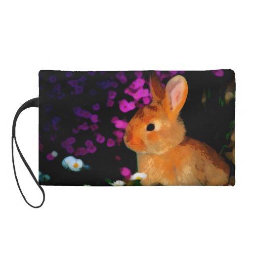 Flower Rabbit Wristlet