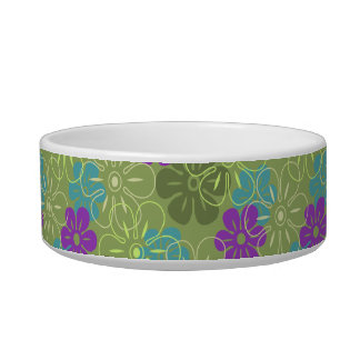 Flower Rain Hawaiian Pet Bowls