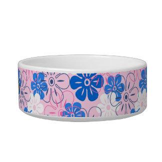Flower Rain Hawaiian Pet Bowls Cat Food Bowls