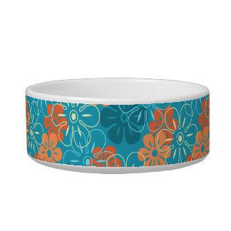 Flower Rain Hawaiian Pet Bowls Cat Food Bowl