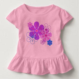 Flower Rain Hawaiian Retro Floral Toddler T-shirt