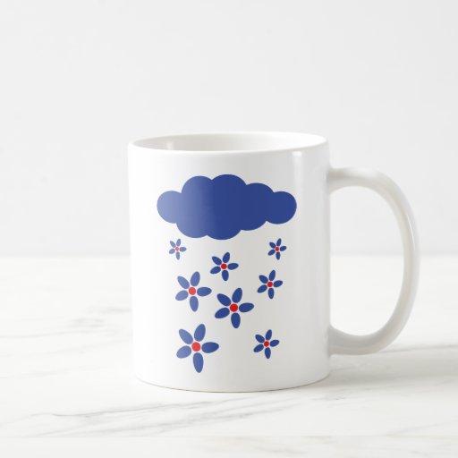 flower rain icon coffee mug
