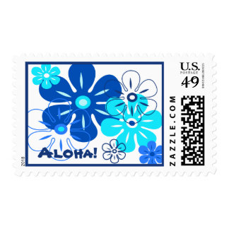 Flower Rain Tropical Stamps