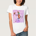 Flower rainbow frog on orchid color snow t shirt
