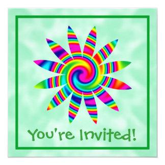 Flower Rainbow Twirl Card