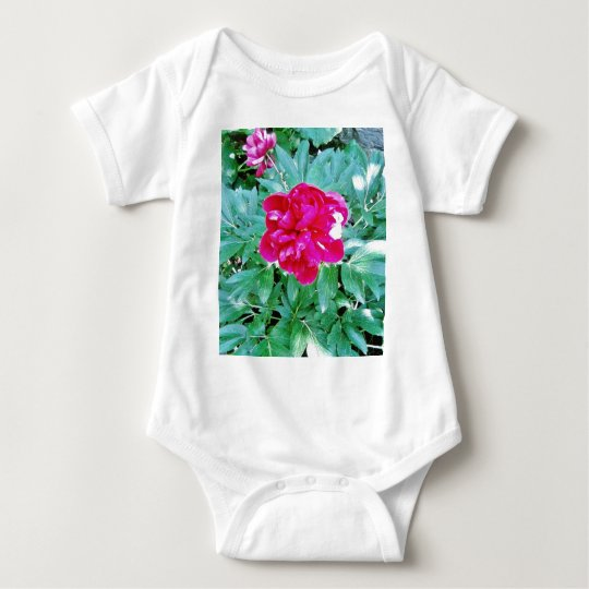 Flower Red Bozur Baby Bodysuit