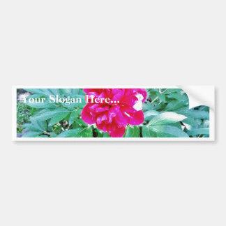 Flower Red Bozur Bumper Sticker
