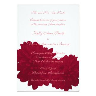 Flower (Red) Large Rectangular Invitation
